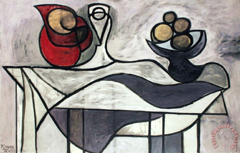 Pitcher And Bowl of Fruit painting - Pablo Picasso Pitcher And Bowl of Fruit Art Print