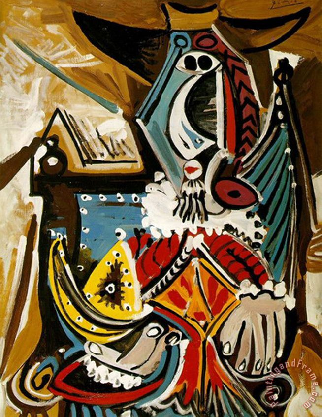 The Man in The Golden Helmet painting - Pablo Picasso The Man in The Golden Helmet Art Print