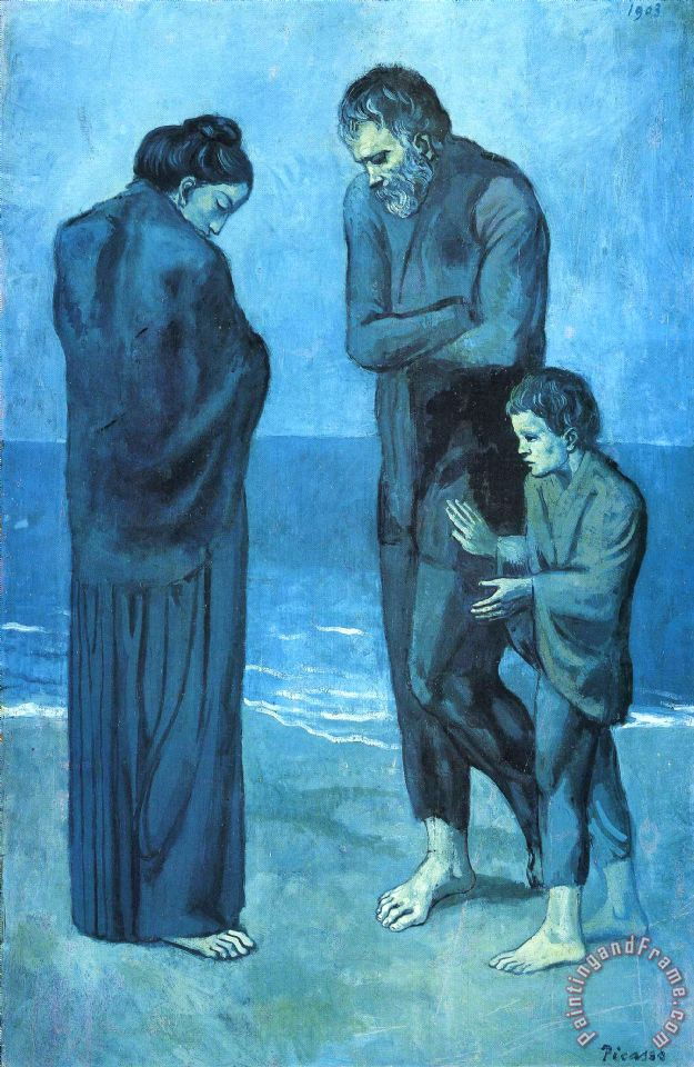 Pablo Picasso The Tragedy 1903 Art Painting