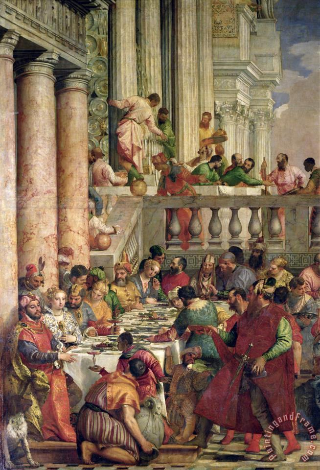 Paolo Caliari Veronese The Marriage Feast at Cana, Detail ...