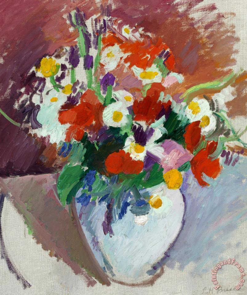 Patrick Henry Bruce Still Life Flowers In A Vase Painting Still