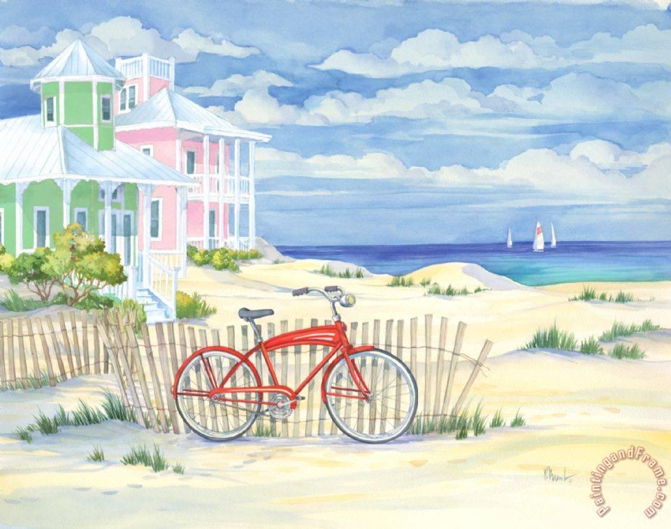 Paul brent beach cruiser cottage i painting beach for Beach house prints
