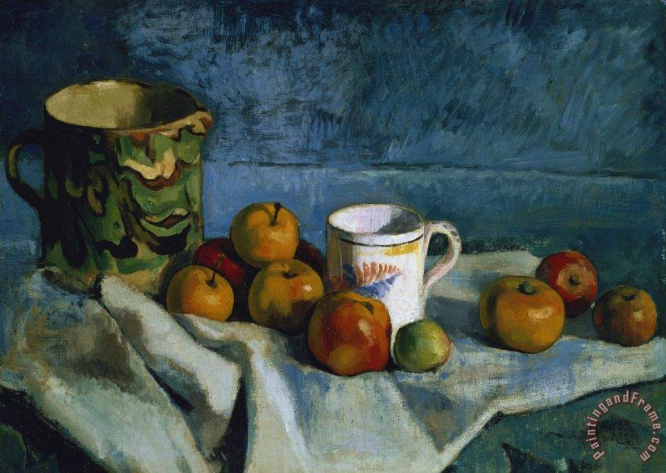 Paul Cezanne Still Life With Apples Cup And Pitcher