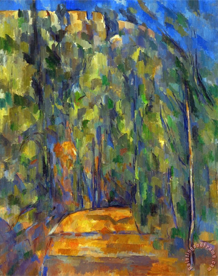 Bend in The Forest Road 1902 1906 painting - Paul Cezanne Bend in The Forest Road 1902 1906 Art Print