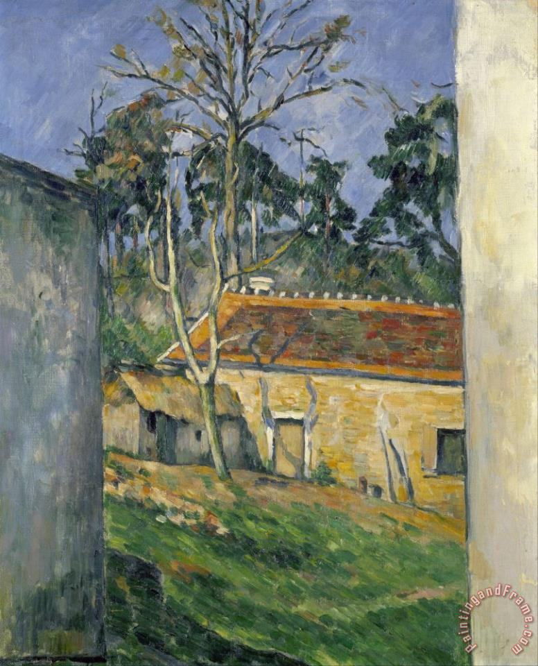 Farmyard at Auvers C 1879 80 painting - Paul Cezanne Farmyard at Auvers C 1879 80 Art Print