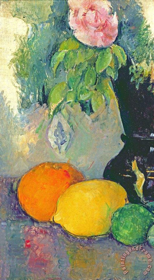 Paul Cezanne Flowers And Fruits Painting Flowers And
