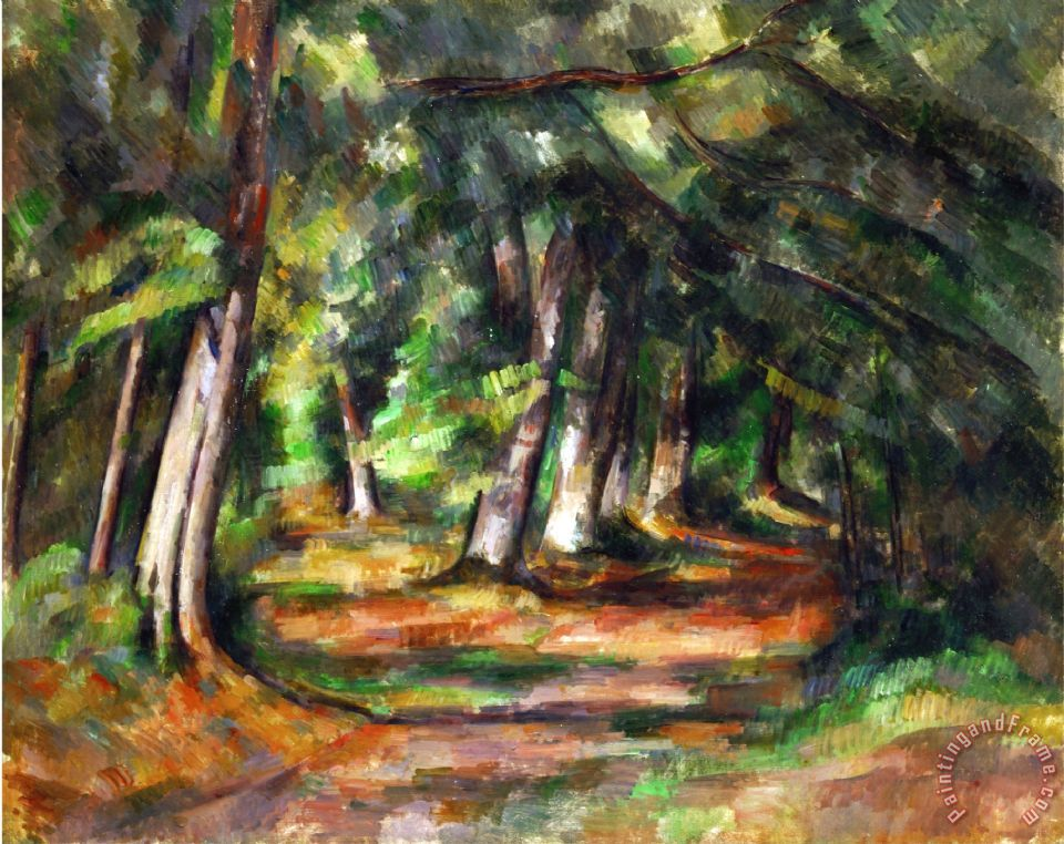 Paintings of Forest Paths Forest Path Circa 1892