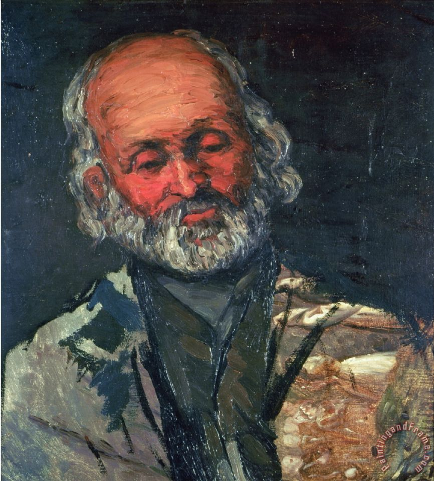 Paul Cezanne Head of an Old Man C 1866 Art Painting