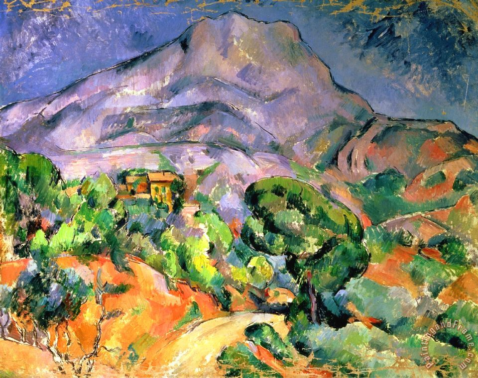 Mont Sainte-victoire Above The Tholonet Road Mont Saint Victoire 1900