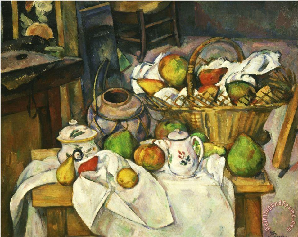 Paul Cezanne Nature Morte Au Panier 1888 90 Still Life