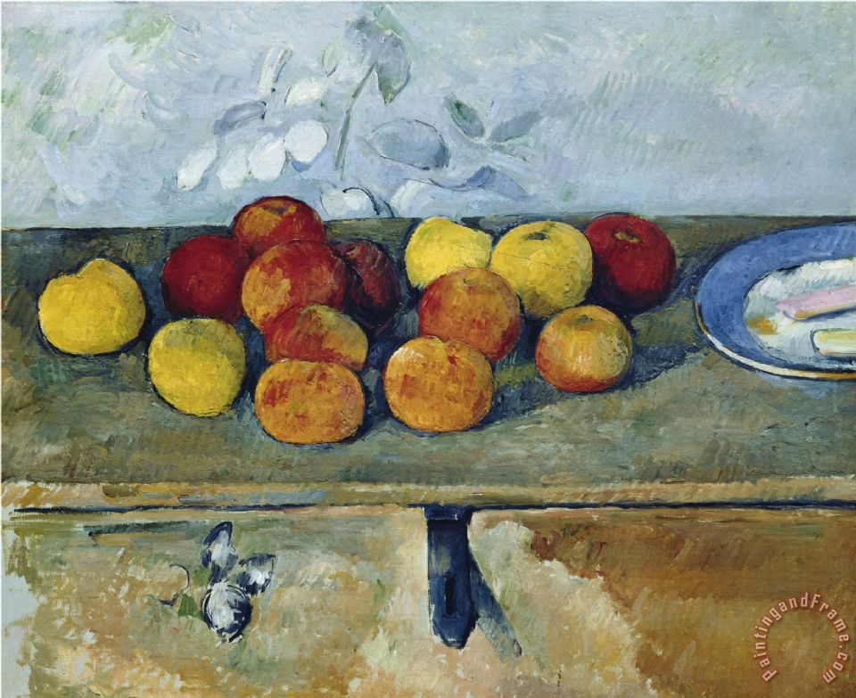 Paul Cezanne Still Life With Apples And Cookies 1879 82