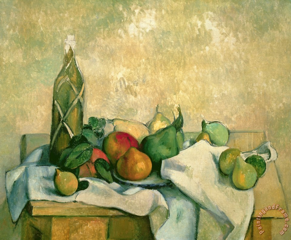 Paul Cezanne Still Life with Bottle of Liqueur Art Painting