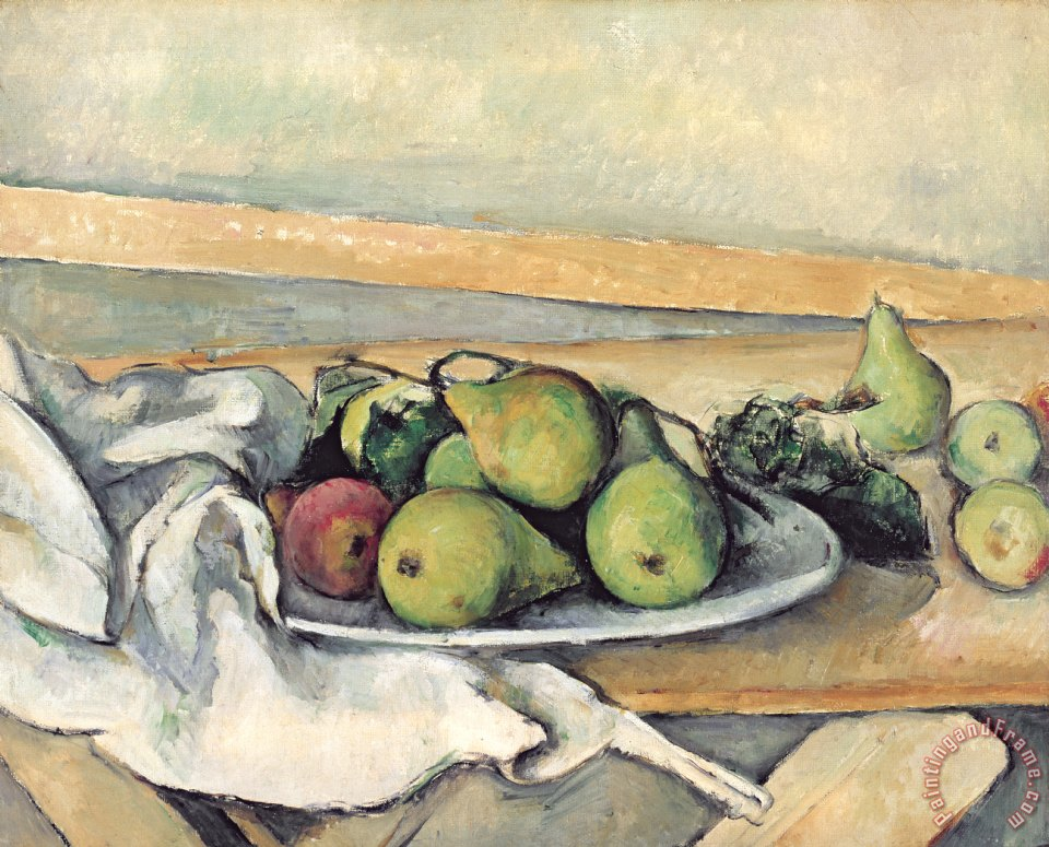 Still Life With Pears painting - Paul Cezanne Still Life With Pears Art Print
