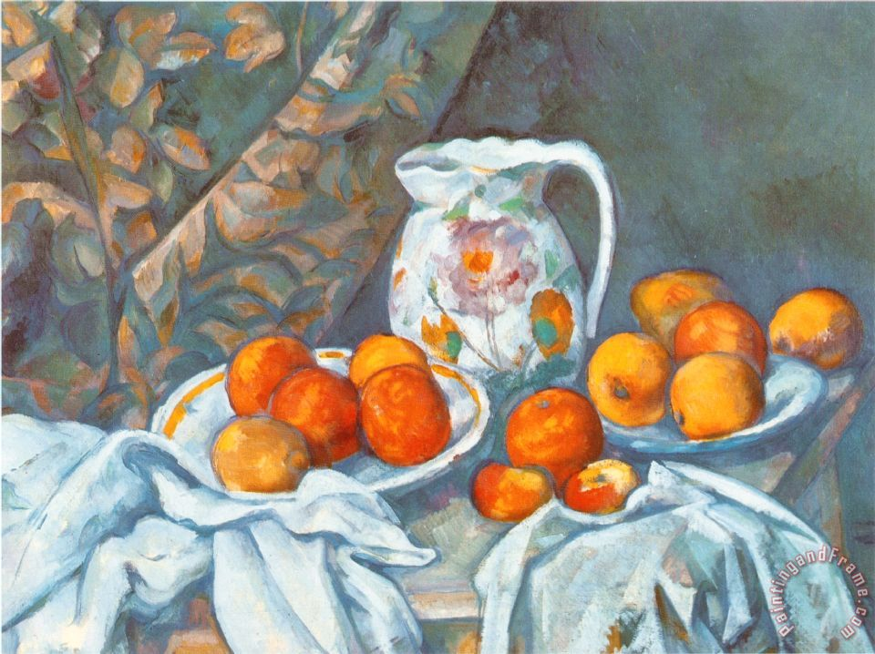 Paul Cezanne Still Life With Tablecloth Painting Still