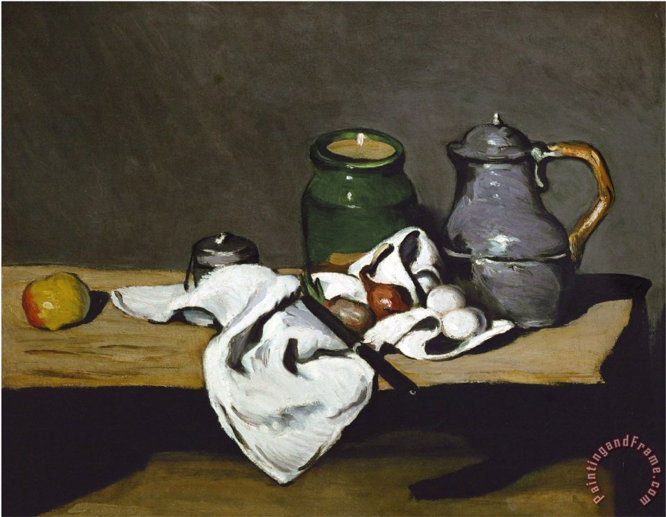 Still Life with Teapot painting - Paul Cezanne Still Life with Teapot Art Print