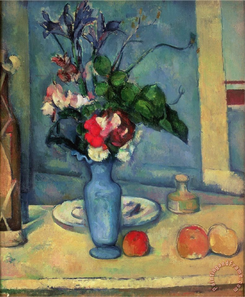 Paul Cezanne The Blue Vase 1889 90 Painting The Blue Vase 1889 90