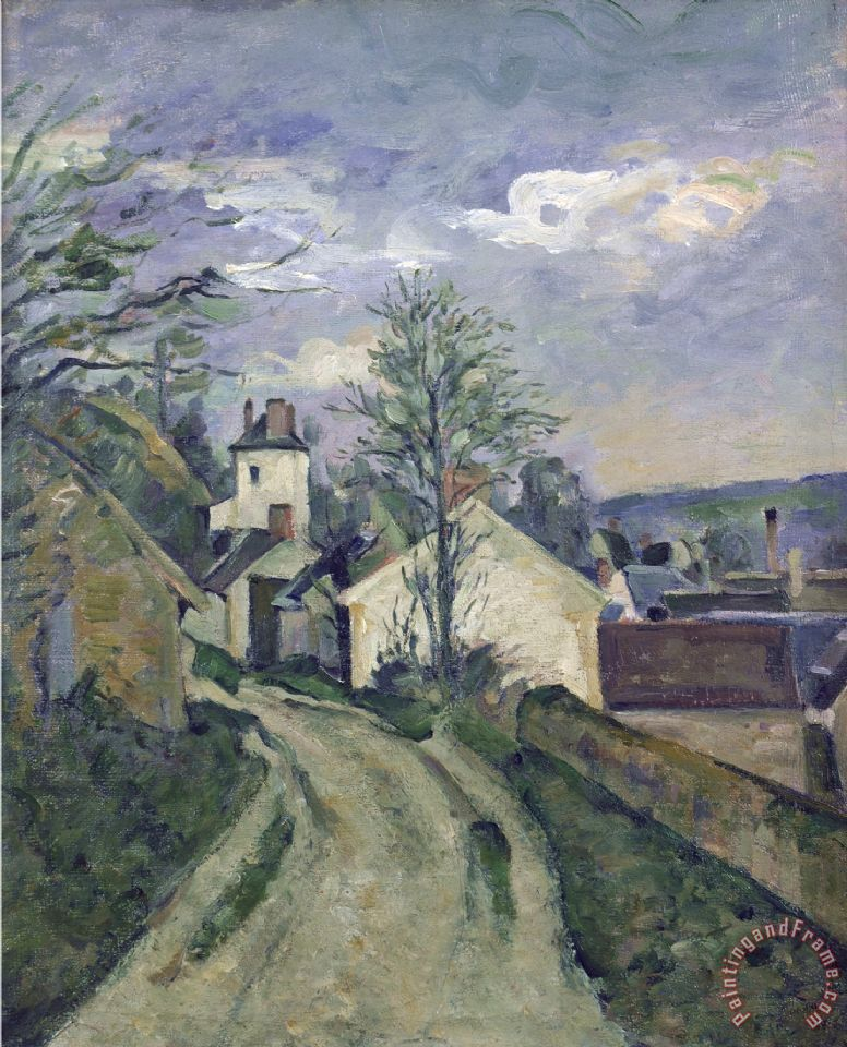 Paul Cezanne The House of Dr Gachet at Auvers Art Painting