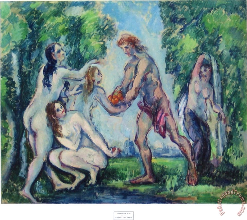Paul Cezanne The Judgement of Paris Art Print