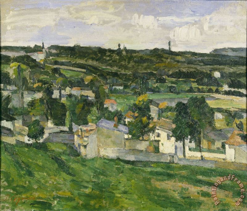 View of Auvers Sur Oise painting - Paul Cezanne View of Auvers Sur Oise Art Print