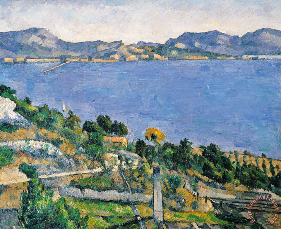 View of the Bay of Marseilles painting - Paul Cezanne View of the Bay of Marseilles Art Print