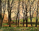 Chestnut trees at the Jas de Bouffan by Paul Cezanne