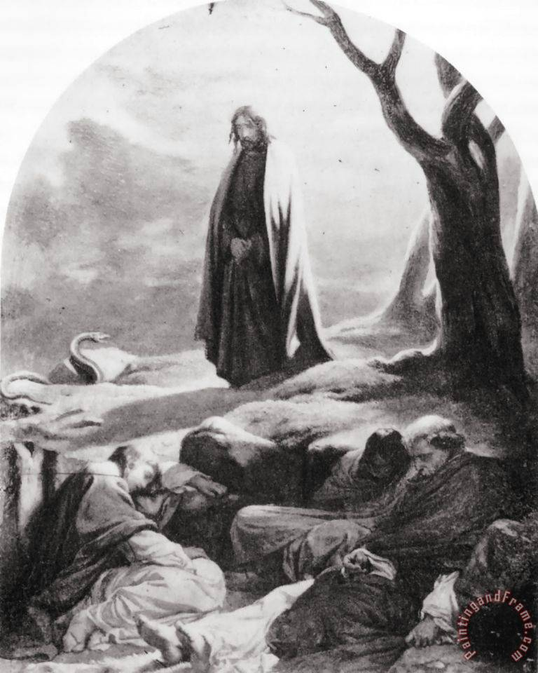 Paul delaroche christ in the garden of gethsemane painting - Jesus in the garden of gethsemane ...
