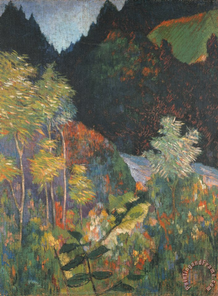 Paul Gauguin Landscape Art Print