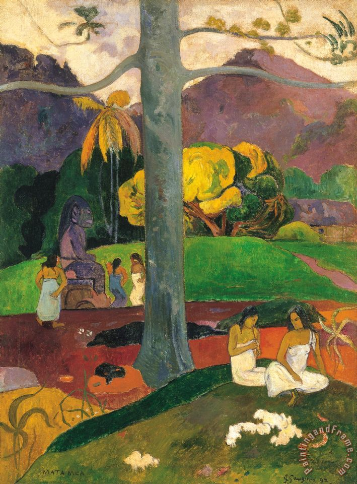 Mata Mua (in Olden Times) painting - Paul Gauguin Mata Mua (in Olden Times) Art Print