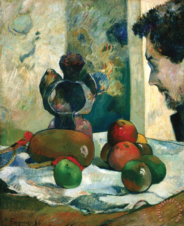 Still Life with Profile of Laval painting - Paul Gauguin Still Life with Profile of Laval Art Print
