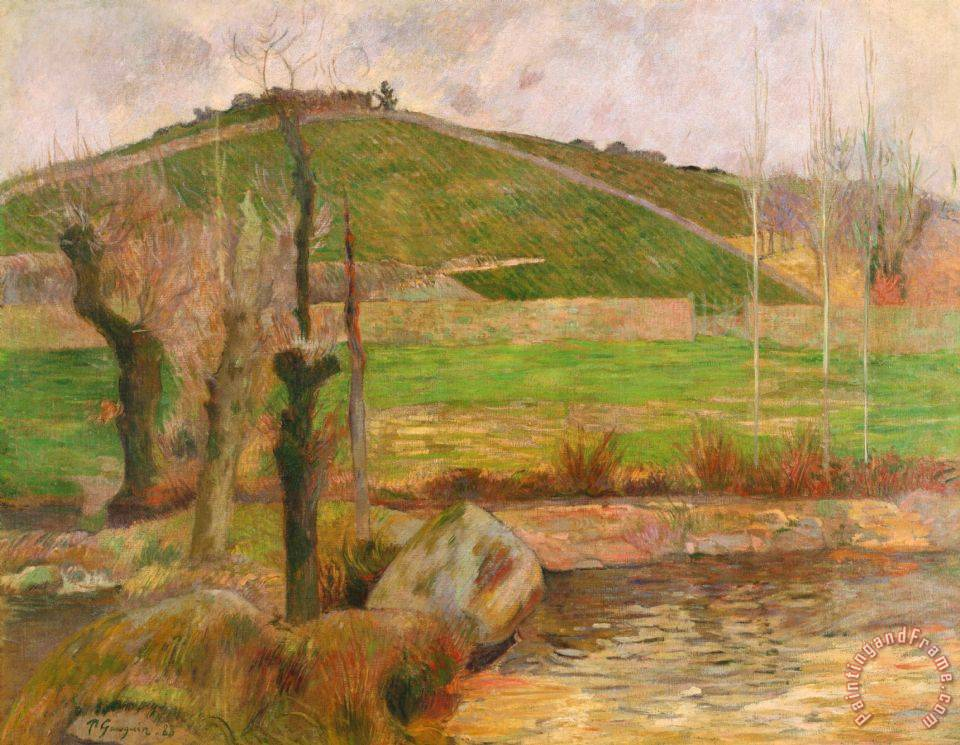 Paul gauguin landscape near pont aven painting landscape for Nearby landscapers