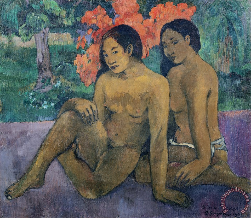 And the Gold of their Bodies painting - Paul Gauguin And the Gold of their Bodies Art Print