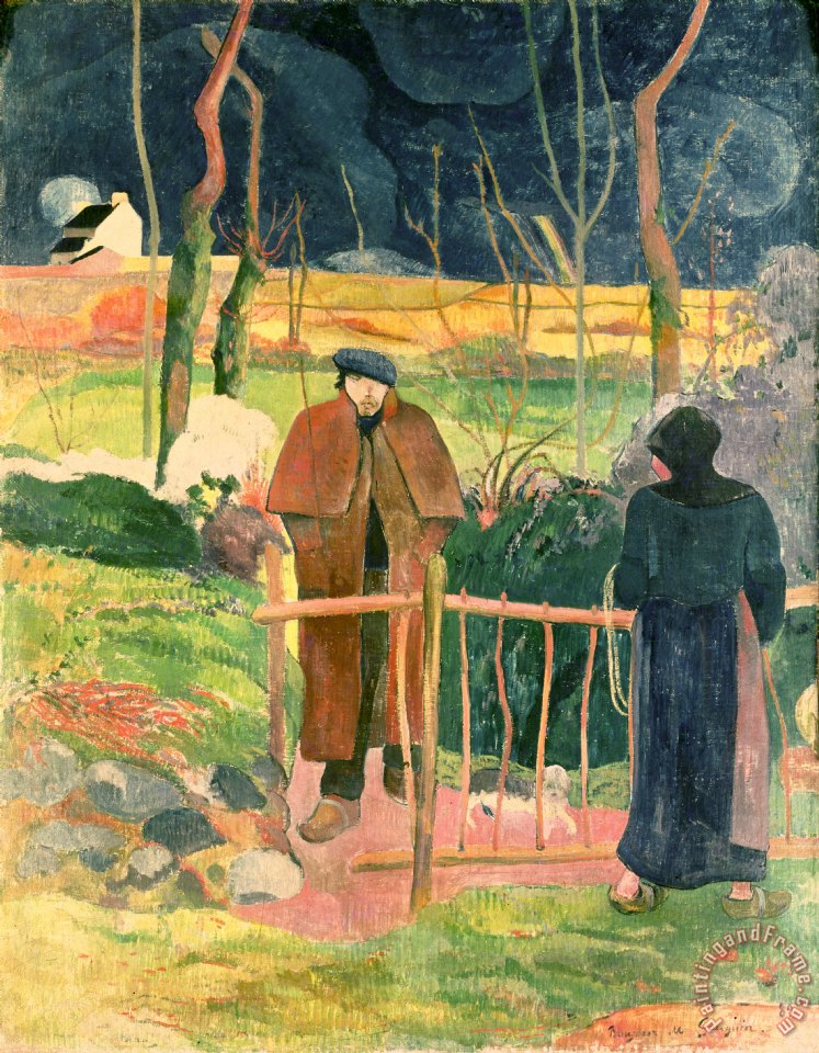 Paul Gauguin Bonjour Monsieur Gauguin Art Print