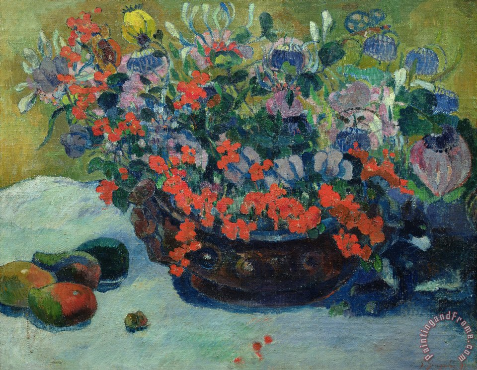 Bouquet of Flowers painting - Paul Gauguin Bouquet of Flowers Art Print
