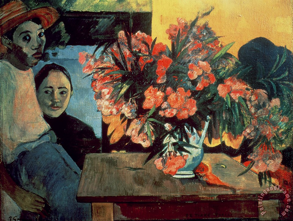 Flowers of France painting - Paul Gauguin Flowers of France Art Print