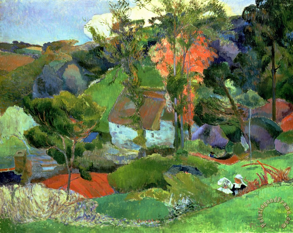 Paul gauguin landscape at pont aven art print for sale for Art print for sale