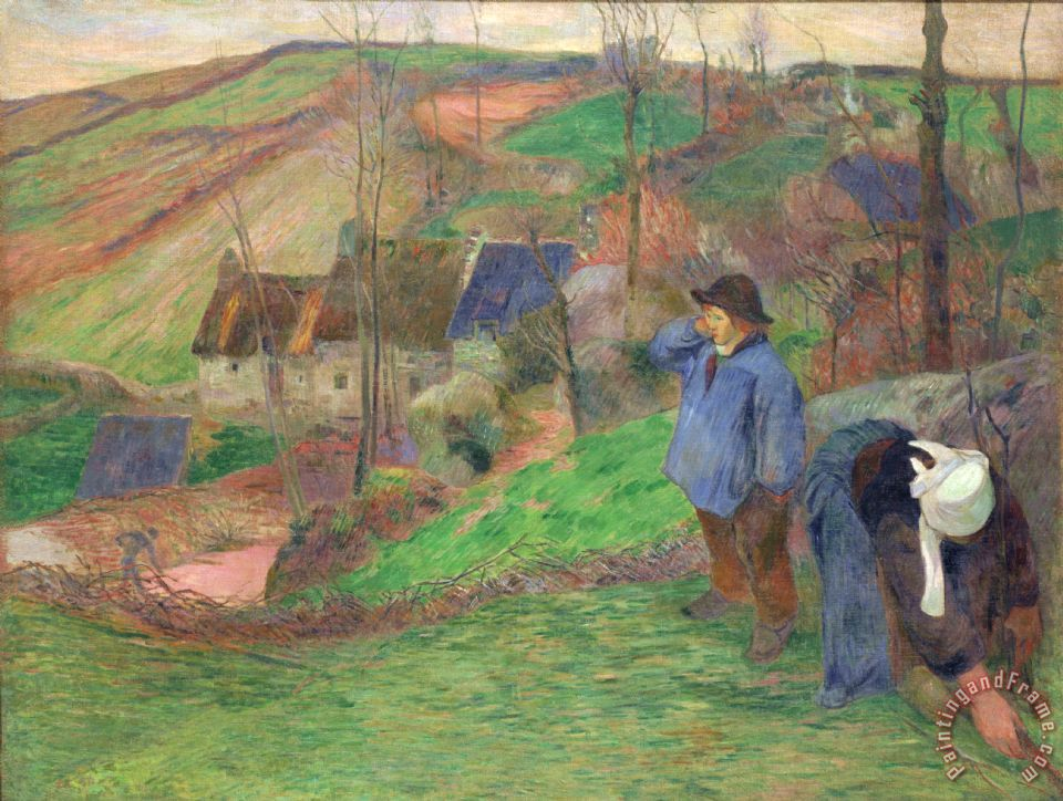 Paul Gauguin Landscape Of Brittany Painting Landscape Of