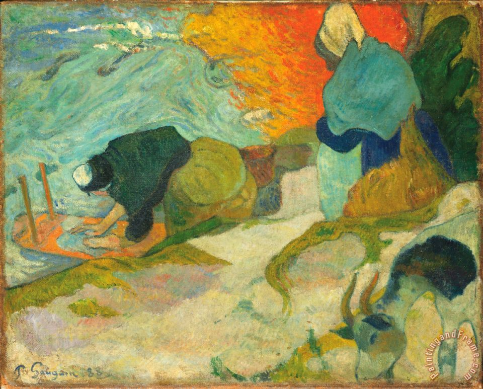 Paul Gauguin Laveuses A Arles (washerwomen in Arles) Art Print