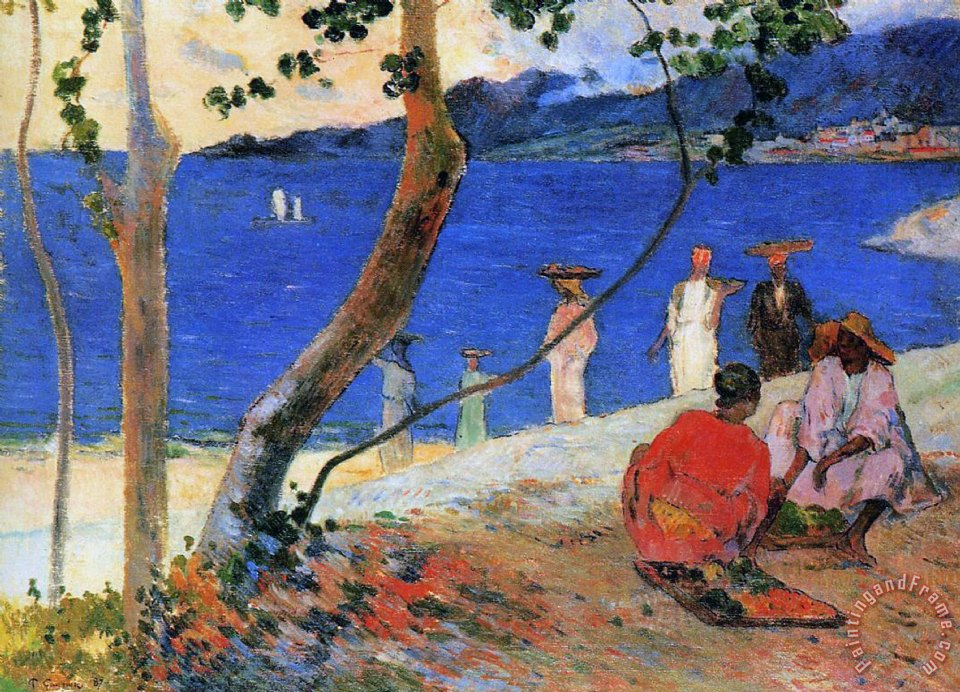 Paul Gauguin Martinique Island Art Painting