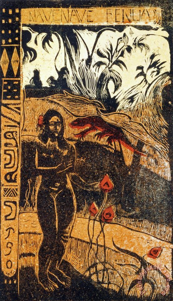Nave Nave Fenua painting - Paul Gauguin Nave Nave Fenua Art Print