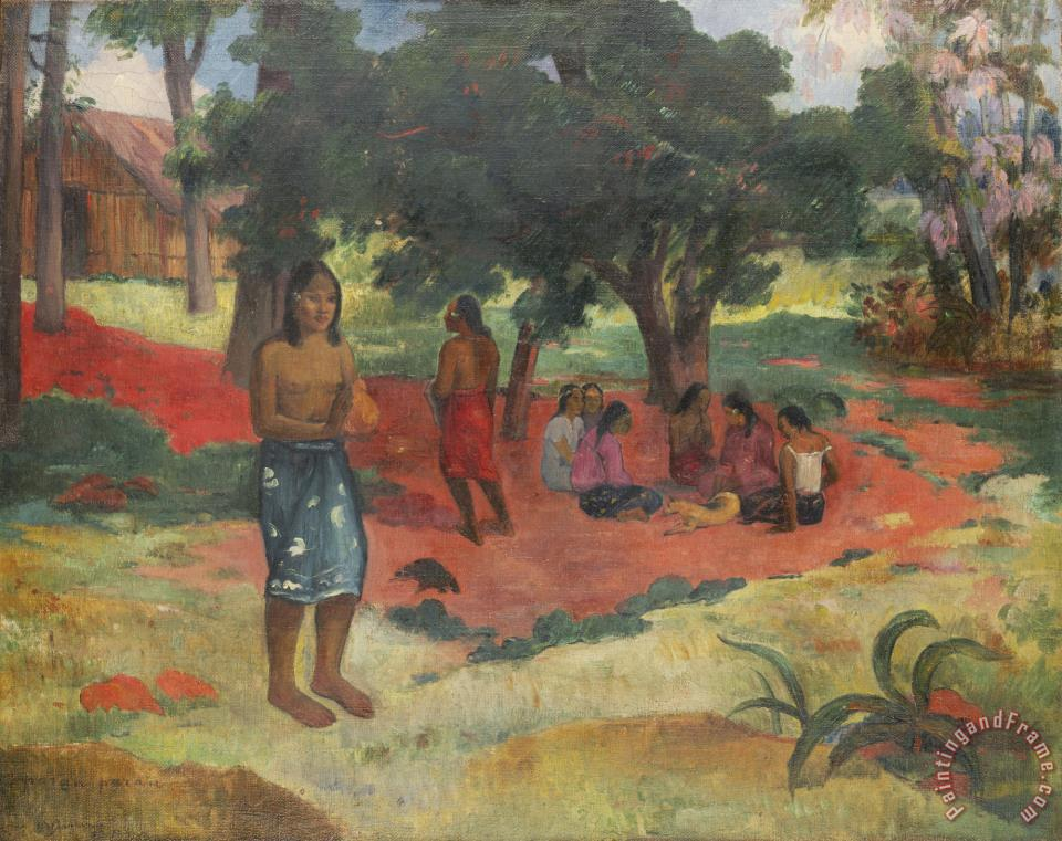 Parau Parau (whispered Words) painting - Paul Gauguin Parau Parau (whispered Words) Art Print