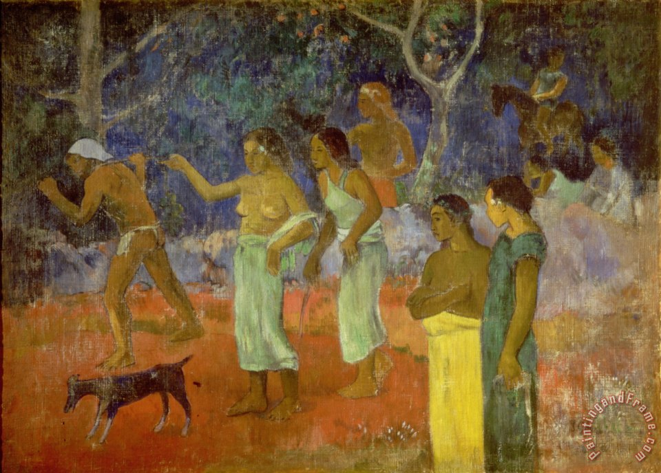 Scene from Tahitian Life painting - Paul Gauguin Scene from Tahitian Life Art Print