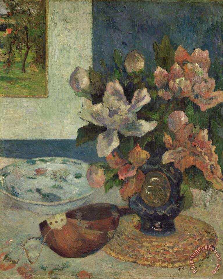 Still Life with a Mandolin painting - Paul Gauguin Still Life with a Mandolin Art Print