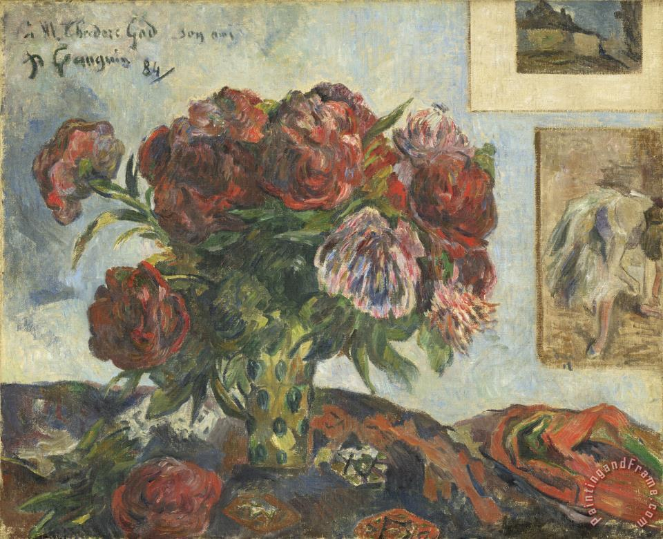 Still Life with Peonies painting - Paul Gauguin Still Life with Peonies Art Print