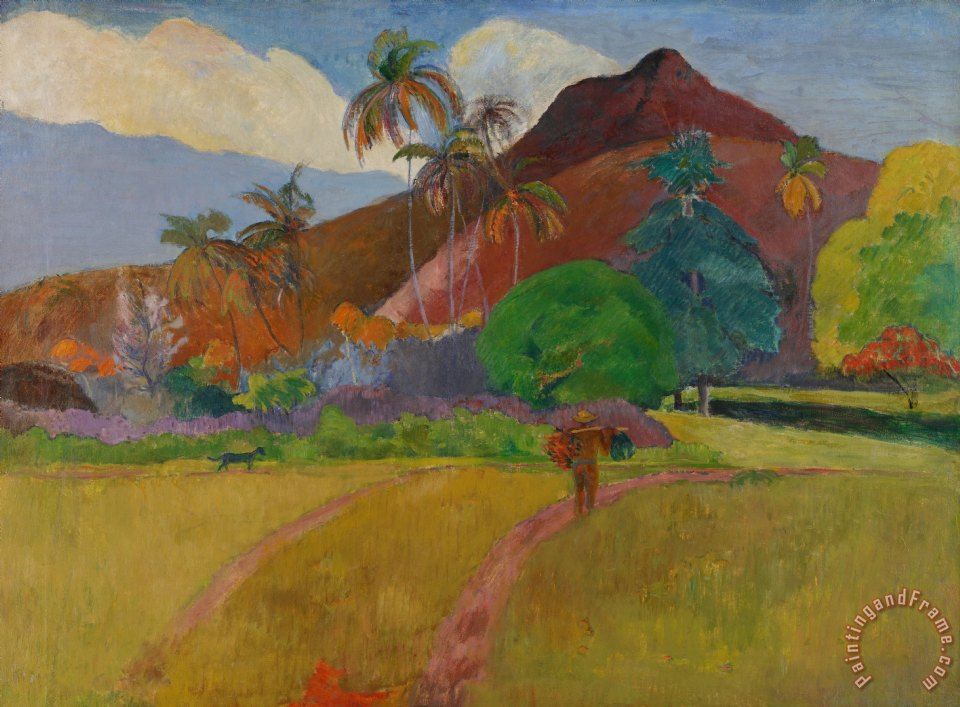 john waterhouse and paul gaugin Blue roofs of rouen, paul gauguin jigsaw puzzle ulysses and the sirens, john william waterhouse tropical landscape with houses and palm trees, pissarro.