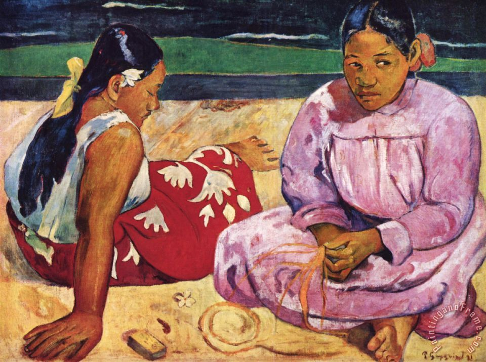 Paul Gauguin Tahitian Women on The Beach Art Print