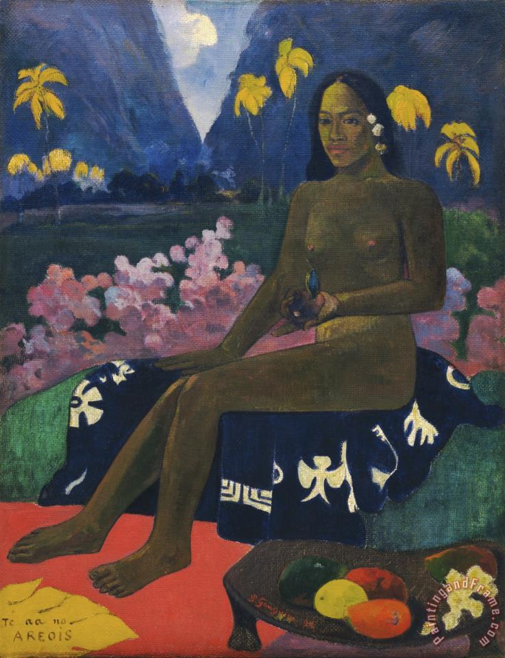 Te Aa No Areois (the Seed of The Areoi) painting - Paul Gauguin Te Aa No Areois (the Seed of The Areoi) Art Print