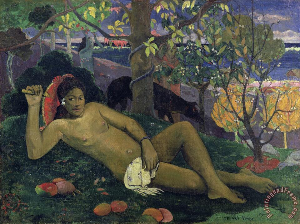 Te Arii Vahine (the King's Wife) painting - Paul Gauguin Te Arii Vahine (the King's Wife) Art Print