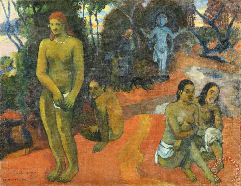 Te Pape Nave Nave (delectable Waters) painting - Paul Gauguin Te Pape Nave Nave (delectable Waters) Art Print