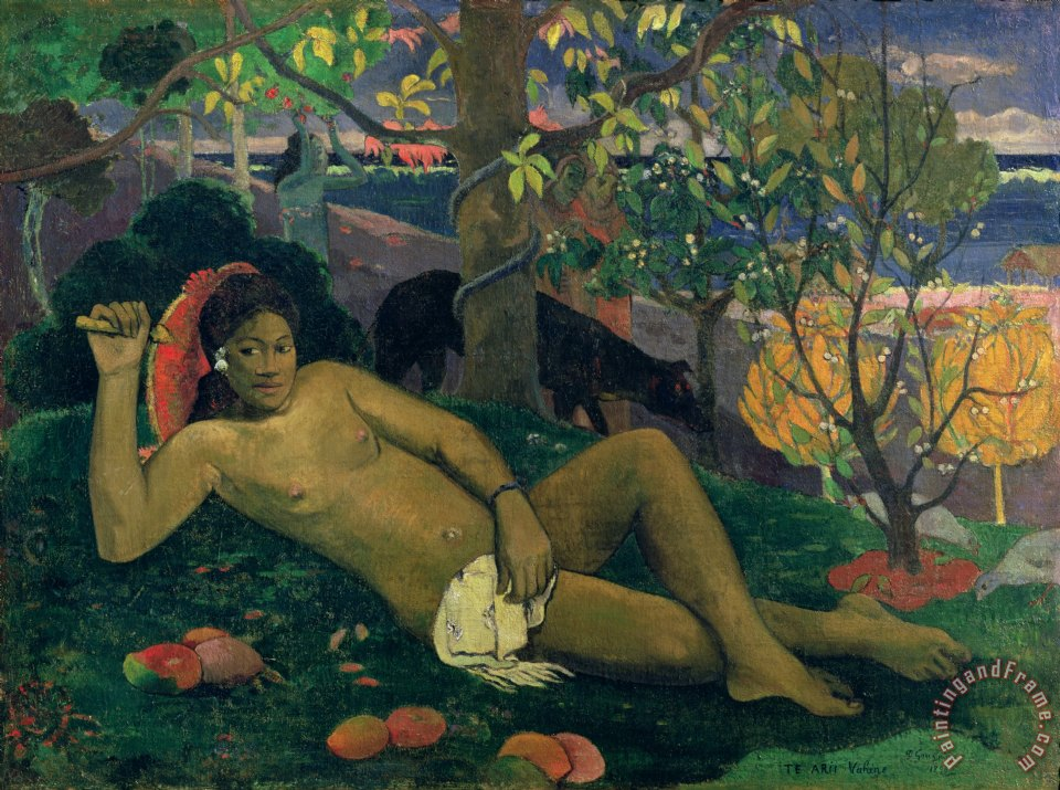 Paul Gauguin The Kings Wife Art Print