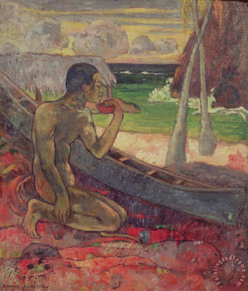 The Poor Fisherman painting - Paul Gauguin The Poor Fisherman Art Print